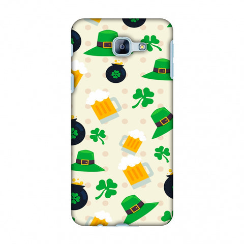 Shamrock, Hats, Beer And Potluck - Green Slim Hard Shell Case For Samsung Galaxy A8 2016