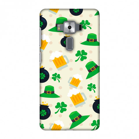 Shamrock, Hats, Beer And Potluck - Green Slim Hard Shell Case For Asus Zenfone 3 Deluxe ZS570KL