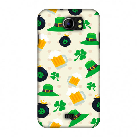 Shamrock, Hats, Beer And Potluck - Green Slim Hard Shell Case For Micromax Canvas 2 A110
