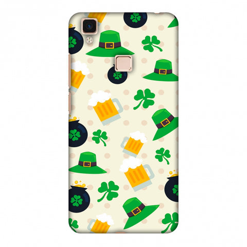 Shamrock, Hats, Beer And Potluck - Green Slim Hard Shell Case For Vivo V3 Max