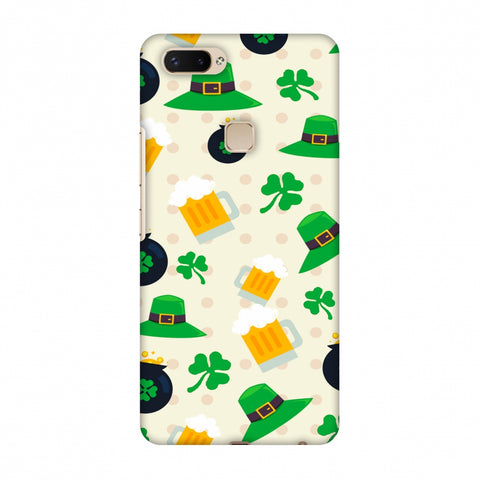 Shamrock, Hats, Beer And Potluck - Green Slim Hard Shell Case For Vivo X20 Plus