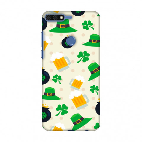Shamrock, Hats, Beer And Potluck - Green Slim Hard Shell Case For Huawei Honor 7C