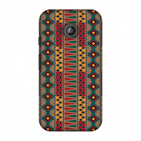 Tribal Stripes - Summer Sun Slim Hard Shell Case For Motorola Moto E 2nd Gen