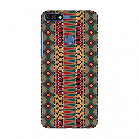Tribal Stripes - Summer Sun Slim Hard Shell Case For Huawei Honor 7C