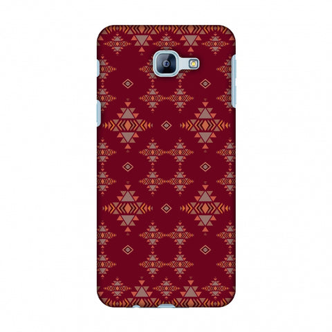 Tribal Tessellations - Burnt Red Slim Hard Shell Case For Samsung Galaxy A8 2016