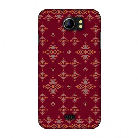 Tribal Tessellations - Burnt Red Slim Hard Shell Case For Micromax Canvas 2 A110