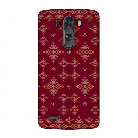 Tribal Tessellations - Burnt Red Slim Hard Shell Case For LG G4