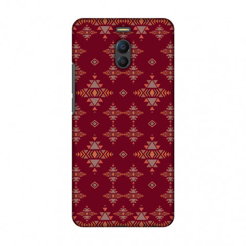 Tribal Tessellations - Burnt Red Slim Hard Shell Case For Meizu Note 6