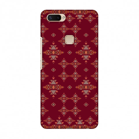 Tribal Tessellations - Burnt Red Slim Hard Shell Case For Vivo X20 Plus