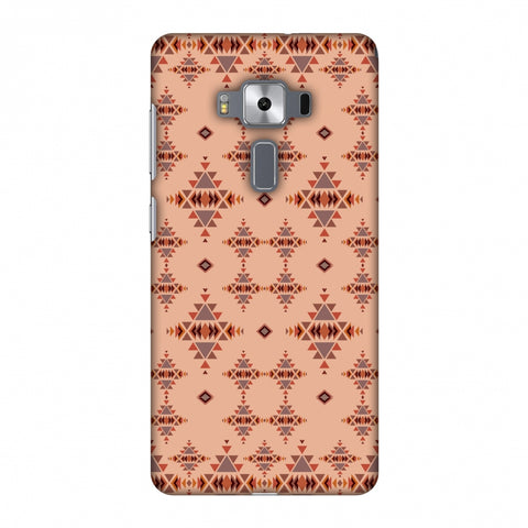 Tribal Tessellations - SAnd And Mustard Slim Hard Shell Case For Asus Zenfone 3 Deluxe ZS570KL