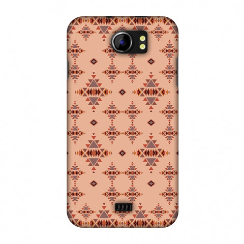Tribal Tessellations - SAnd And Mustard Slim Hard Shell Case For Micromax Canvas 2 A110