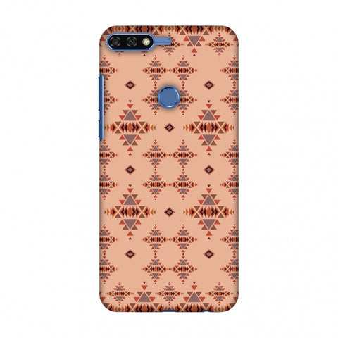 Tribal Tessellations - SAnd And Mustard Slim Hard Shell Case For Huawei Honor 7C