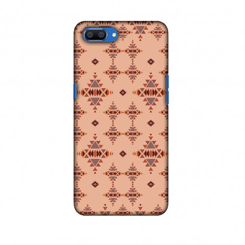 Tribal Tessellations - SAnd And Mustard Slim Hard Shell Case For Oppo Realme C1