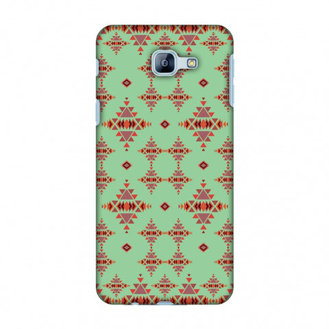 Tribal Tessellations - Coral Blue Slim Hard Shell Case For Samsung Galaxy A8 2016