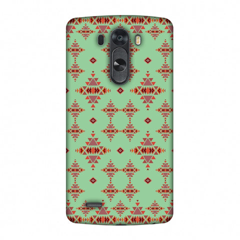 Tribal Tessellations - Coral Blue Slim Hard Shell Case For LG G4