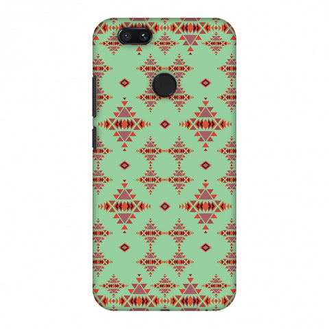 Tribal Tessellations - Coral Blue Slim Hard Shell Case For Xiaomi MI A1-5X