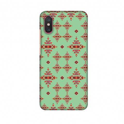 Tribal Tessellations - Coral Blue Slim Hard Shell Case For Xiaomi Mi 8 Pro
