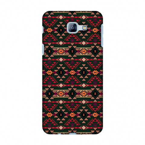 Tribal Tessellations - Forest Green And Fire Red Slim Hard Shell Case For Samsung Galaxy A8 2016