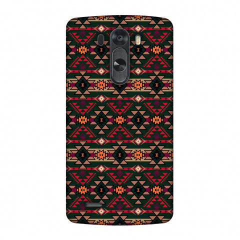 Tribal Tessellations - Forest Green And Fire Red Slim Hard Shell Case For LG G4
