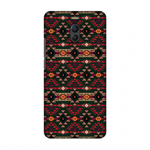 Tribal Tessellations - Forest Green And Fire Red Slim Hard Shell Case For Meizu Note 6
