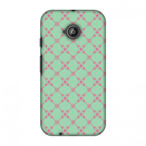 Tribal Mesh - Aqua Blue Slim Hard Shell Case For Motorola Moto E 2nd Gen