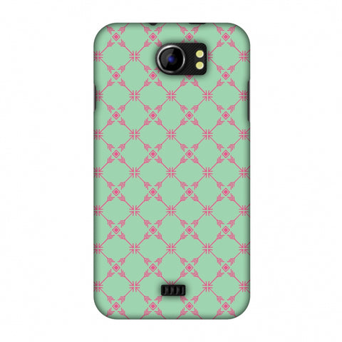 Tribal Mesh - Aqua Blue Slim Hard Shell Case For Micromax Canvas 2 A110