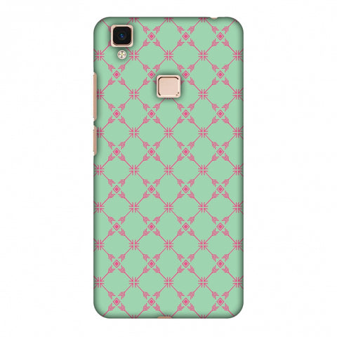 Tribal Mesh - Aqua Blue Slim Hard Shell Case For Vivo V3 Max