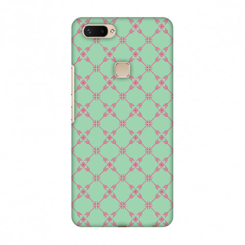 Tribal Mesh - Aqua Blue Slim Hard Shell Case For Vivo X20 Plus