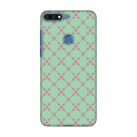 Tribal Mesh - Aqua Blue Slim Hard Shell Case For Huawei Honor 7C