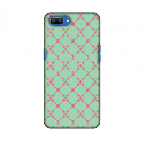 Tribal Mesh - Aqua Blue Slim Hard Shell Case For Oppo Realme C1