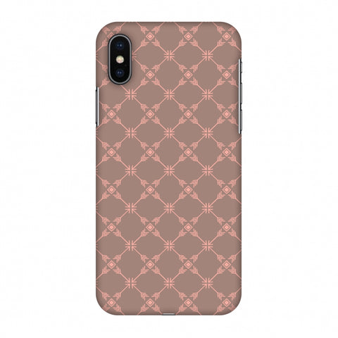 Tribal Mesh - Antique Brass Slim Hard Shell Case For Apple iPhone X
