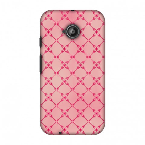 Tribal Mesh - Airbrushed Pink Slim Hard Shell Case For Motorola Moto E 2nd Gen