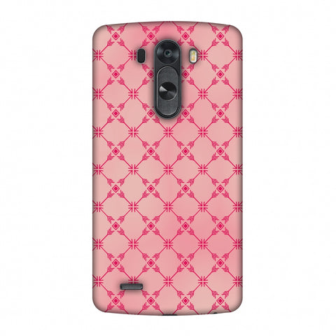 Tribal Mesh - Airbrushed Pink Slim Hard Shell Case For LG G4