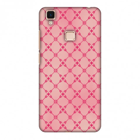 Tribal Mesh - Airbrushed Pink Slim Hard Shell Case For Vivo V3 Max
