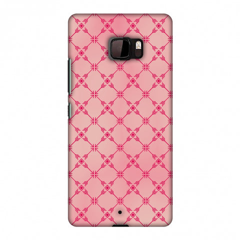 Tribal Mesh - Airbrushed Pink Slim Hard Shell Case For HTC U Ultra