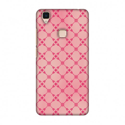 Tribal Mesh - Airbrushed Pink Slim Hard Shell Case For Vivo V3