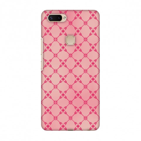 Tribal Mesh - Airbrushed Pink Slim Hard Shell Case For Vivo X20 Plus