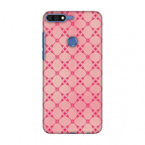 Tribal Mesh - Airbrushed Pink Slim Hard Shell Case For Huawei Honor 7C