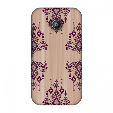 Tribal Dangles - Antique Ruby Slim Hard Shell Case For Motorola Moto E 2nd Gen