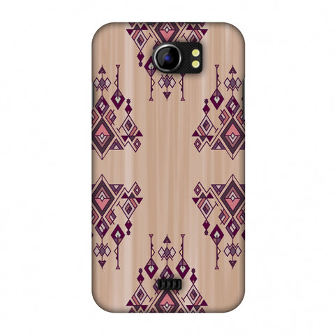 Tribal Dangles - Antique Ruby Slim Hard Shell Case For Micromax Canvas 2 A110