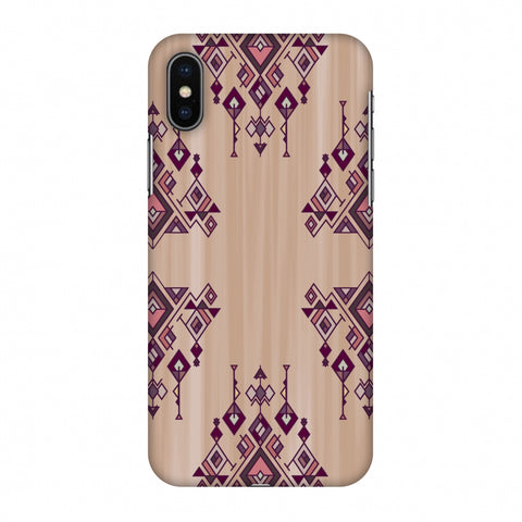 Tribal Dangles - Antique Ruby Slim Hard Shell Case For Apple iPhone X