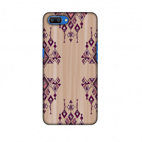Tribal Dangles - Antique Ruby Slim Hard Shell Case For Oppo Realme C1