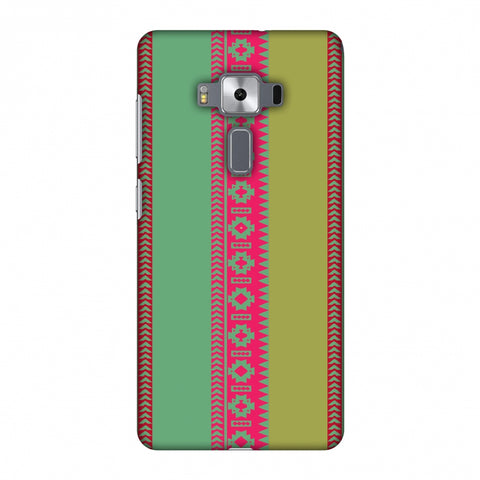 Tribal Patterns And Solids - Aquamarine And Awesome Pink Slim Hard Shell Case For Asus Zenfone 3 Deluxe ZS570KL