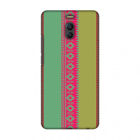 Tribal Patterns And Solids - Aquamarine And Awesome Pink Slim Hard Shell Case For Meizu Note 6