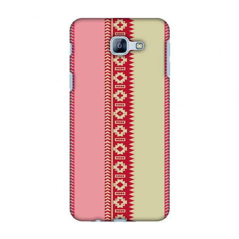 Tribal Patterns And Solids - Beige And Flamingo Pink Slim Hard Shell Case For Samsung Galaxy A8 2016