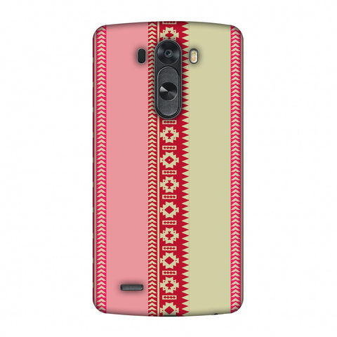 Tribal Patterns And Solids - Beige And Flamingo Pink Slim Hard Shell Case For LG G4