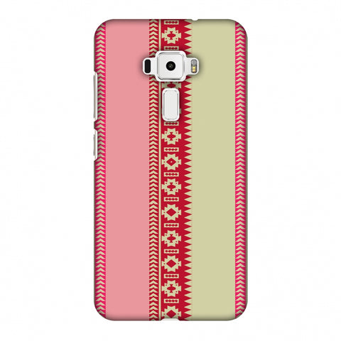 Tribal Patterns And Solids - Beige And Flamingo Pink Slim Hard Shell Case For Asus Zenfone 3 ZE520KL