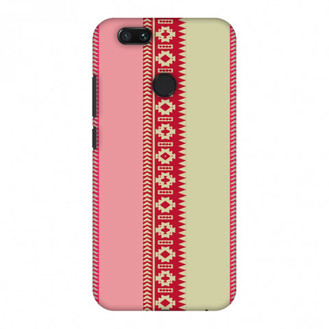 Tribal Patterns And Solids - Beige And Flamingo Pink Slim Hard Shell Case For Xiaomi MI A1-5X