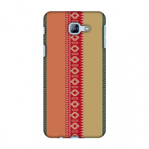 Tribal Patterns And Solids - Teal And Brick Red Slim Hard Shell Case For Samsung Galaxy A8 2016
