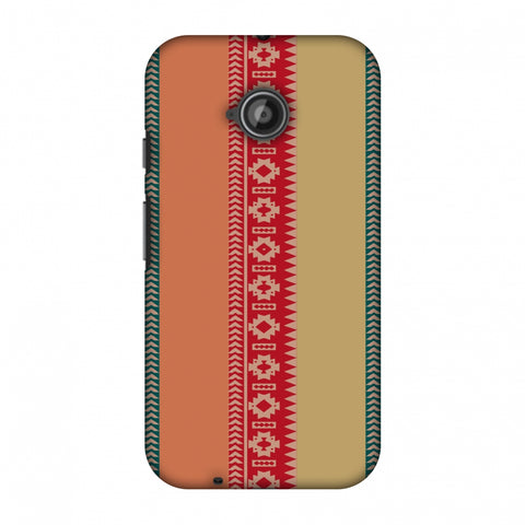 Tribal Patterns And Solids - Teal And Brick Red Slim Hard Shell Case For Motorola Moto E 2nd Gen